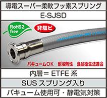 導電スーパー柔軟フッ素スプリング(E-SJSD)フェルール継手加締品