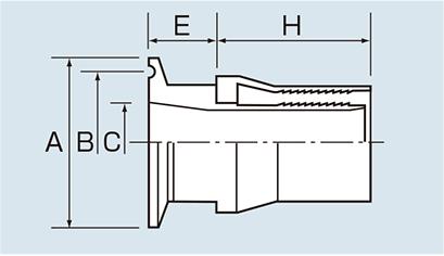 フェルール部 構造・寸法図